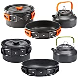 AGAN Outdoor Camping Cookware Utensils Dishes Cookware Set Picnic Hiking Heat Pot Kettle Outdoor Tourism Cook Set of Dishes for picni