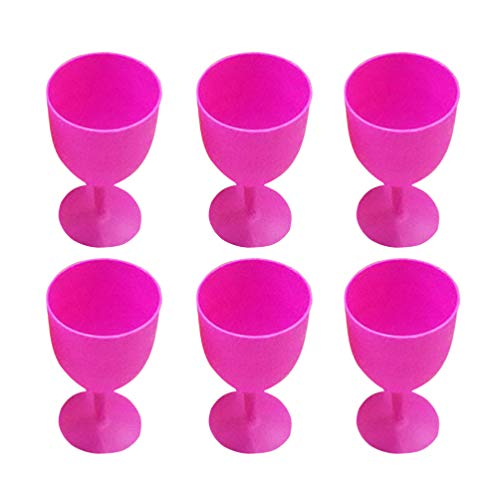 Toyvian 12 Piezas Vasos de Plástico Margarita Copas de Copa de Vino...
