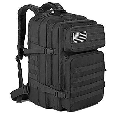 QT&QY 45L Military Tactical Backpacks Molle Army Assault Pack 3 Day Bug Out Bag Hiking Treeking Rucksack