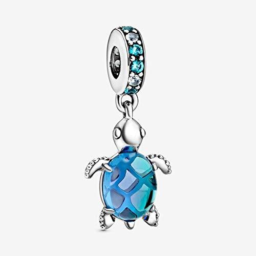 Véritable 925 Argent Sterling Charme Océan Série Perles Fit Original Pandora Ch Bracelet Femmes Bricolage Bijoux-Tortue De Mer
