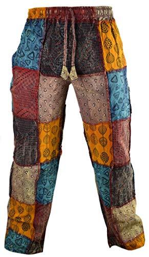 Little Kathmandu - Pantalones rectos, informal, algodón, estampados, estilo funky multicolor XXXX-Large