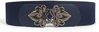 SGJFZD Matching Dress Fashionable Ladies Wide Waist Seal Elastic Stretch Belt Wild Women's Wide Belt Decoration (Color : Navy)
