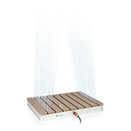 blumfeldt Sumatra Breeze – Ducha de jardín Ducha Exterior Piso de Ducha Ducha Exterior Ducha de Sauna, Altura Ajustable…