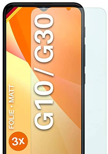 moex Schutzfolie matt kompatibel mit Motorola Moto G10 / G30 - Folie gegen Reflexionen, Anti Reflex Bildschirmschutz, Matte Bildschirmfolie - 3X Stück