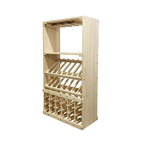 Wine Rack modular de almacenamiento de vino del sostenedor del Almacenamiento de botellas en el hogar 32 botella de vino en rack gratuito de soporte for suelo de vino sostenedor de la exhibición Estan
