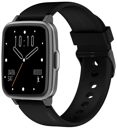 Noise ColorFit Pulse Spo2 Smart Watch with 10 days battery life, 60+ Watch Faces, 1.4″ Full Touch HD Display Smartwatch, 24*7 Heart Rate Monitor Smart Band, Sleep Monitoring Smart Watches for Men and Women & IP68 Waterproof (Jet Black)