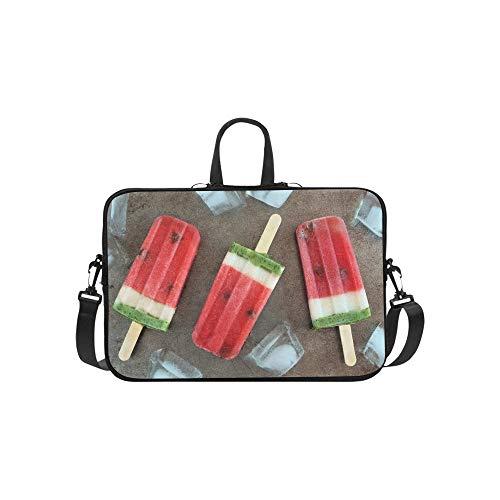 Wassermelonen-EIS auf Einem Stick-Muster Aktenkoffer Laptoptasche Messenger Schulter Arbeitstasche Crossbody Handtasche für Geschäftsreisen