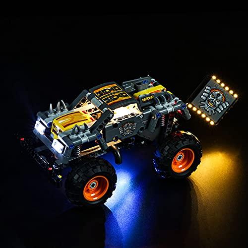 SESAY Juego de luces personalizadas para camión Lego Technic Monster Jam Max-D, juego de iluminación LED compatible con Lego 42119 (sin juego Lego)