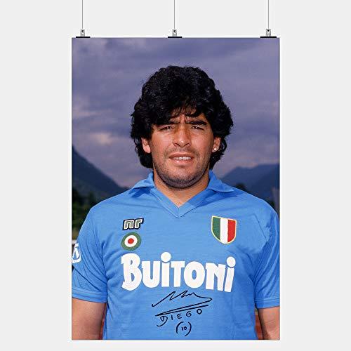 Generico Poster Maradona Napoli autografato Foto rarissima Scudetto