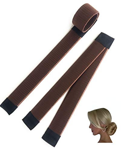 AA Perfect 2er Set Dutt Hilfe in 5 Farben erhältlich | Hair Bun Maker für lange Haare | Magic Twist Donut | DYI Frisur Tools für das perfekte Hair Styling (Dark Brown)