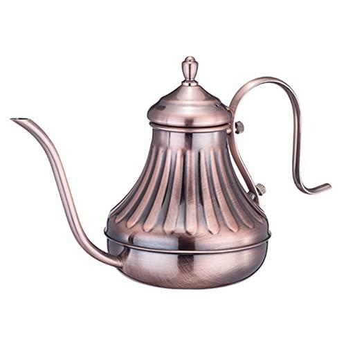 Pour Over Coffee Kettle, Gooseneck Kettle, Pour over Kettle, Bronze 304 Stainless Steel DIY Coffe Maker Teapot for Kitchen Appliances & Dorm Essentials