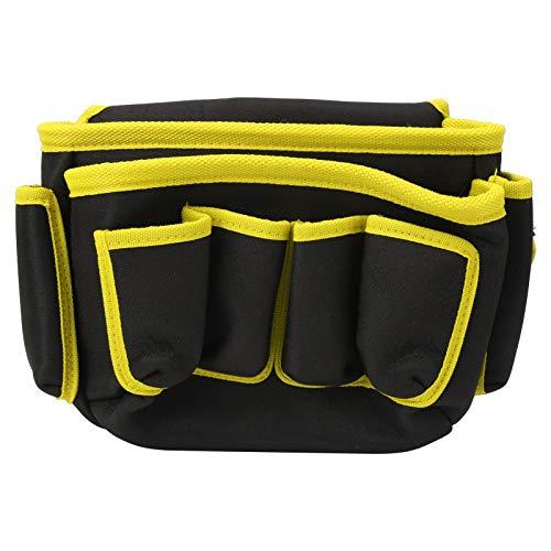 Electrician bBag Bolsa de almacenamiento de herramientas de alta capacidad, duradera, para instalador, para jardinero(Yellow edge)
