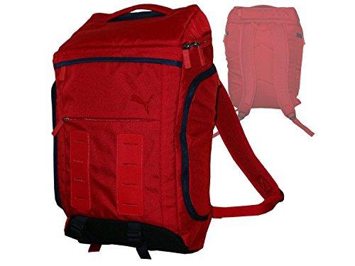 PUMA Sporttasche Rucksack für Damen und Herren in rot Casual Daypack Grat Backpack Schulrusack Laptoprucksack Alltagsbegleiter Freitzeit Arbeit Campus Schule Reise ca.48 x 33x 16 cm, 25 l