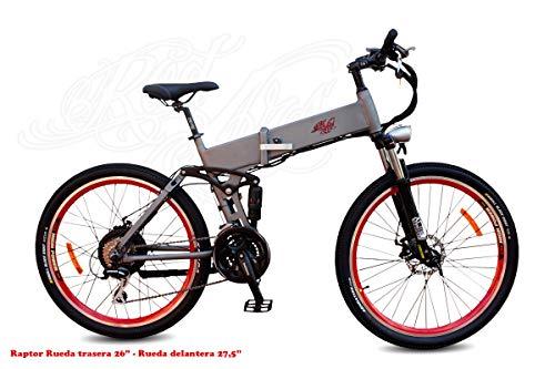 MTB eBike Pedelec Bicicleta Eléctrica de Montaña Plegable Doble...