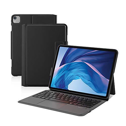 Ewin iPad Air 10.9インチ 第4世代 キーボード ケース/iPad Pro 11インチ 第3世代 第1世代/第2世代 キーボードケース タッチパッド付き 一体式Bluetoothキーボード オートスリープ搭載 軽量 iPad Air 第4世代 2020 保護カバー ペンポケット付き 日本語説明書付き(ブラック)