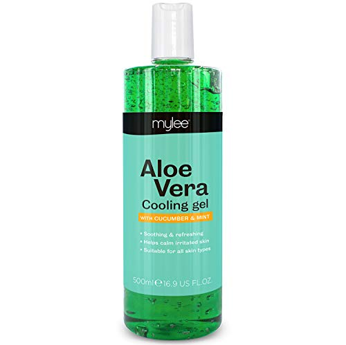Mylee Pure Aloe Vera beruhigendes Gel Nachsorge Wachsen Haarentfernung Enthaarung Wachs Hautbehandlung After-Sun 500ml…