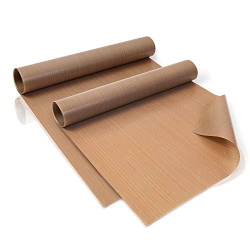 Amazy duurzame bakfolie (rol) - Het premium bakpapier - Herbruikbaar, hittebestendig, anti-aanbaklaag en vaatwasmachinebestendig (2 rollen elk 40 x 150 cm)