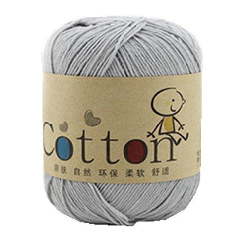Ovillo de lana de Celine In para bebé (algodón natural súper suave (23 colores diferentes)