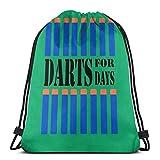 DJNGN Dardos de diseño de Juguete de Estilo Nerf para días Bolsa con cordón Bolsa de Deporte Bolsa de Viaje Bolsa de Regalo