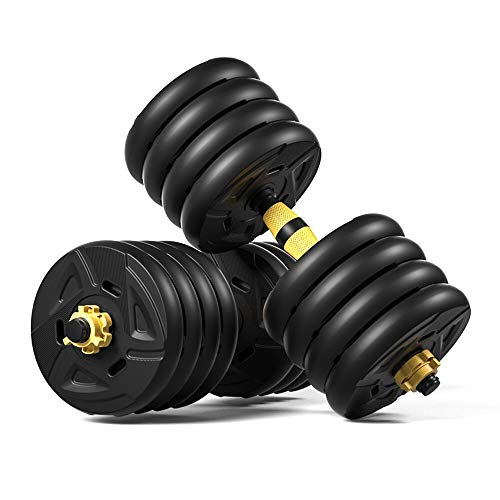 XXY 5 En 1 Dumbbell & Barbell Set, Conjunto De Pesas De Dumbells Ajustables De 88 Libras, Cuatro Modos De Fitness Ejercicio del Gimnasio del Hogar (Color : 40kg)