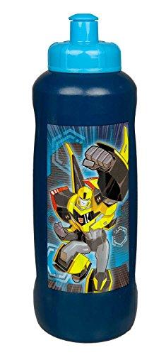 Scooli TFJK9911 - Botella deportiva de plástico, fácil de abrir y cerrar, sin BPA ni ftalatos, Transformers con Bumblebee y diseño Optimus Prime, aprox. 450 ml