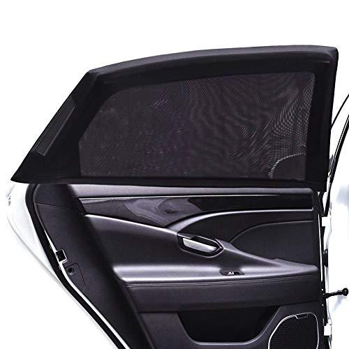 Tospanic 2Auto Fenster Schatten, Auto Sonnenschutz Sonnenschutz atmungsaktiv Mesh umfasst die Rückseite Windows Maximaler UV-Schutz für Baby, Kinder, Kinder- und Hund