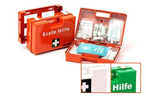 LEINA-WERKE SAN EHBO-koffer zonder druk, With content: DIN 13169, Oranje/bedrukt, 1
