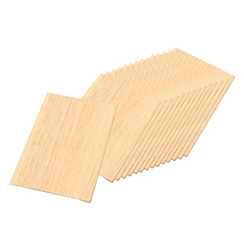 F Fityle 15 Piezas de Madera en Blanco rebanadas cuadradas de Madera sin terminar MDF Recortes Formas de Madera rebanadas de artesanía para DIY carpintería