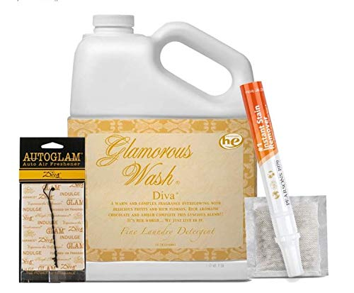 Tyler Diva Glamorous Wash Laundry Detergent -1 Gallon / 128OZ- (Bundled with 1 Diva Sachet, 1 Diva Autoglam & Pearsons Stain Remover)
