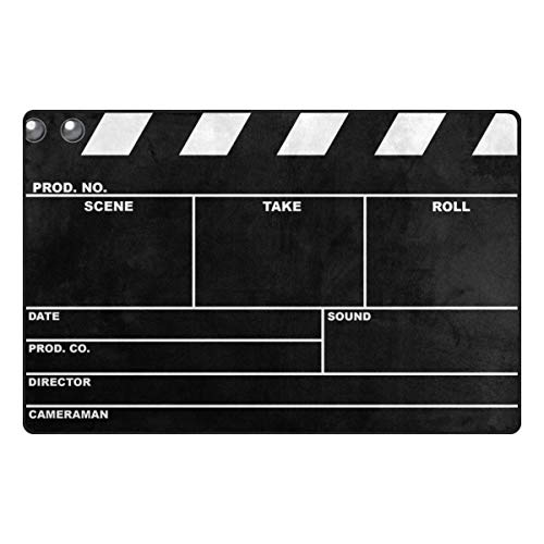 ALAZA Classic Movie Clapboard Black Area Rug Rugs Non-Slip Floor Mat Doormats for Living Room Bedroom 60 x 39 inches