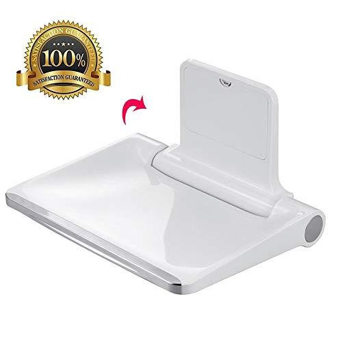 M-TOP opklapbare douchestoel, aan de muur gemonteerde badstoel, zitbank voor in de badkamer, zitbank voor maximaal 400 liter, opvouwbare douchestoel voor volwassenen, ouderen, gehandicapten, bad