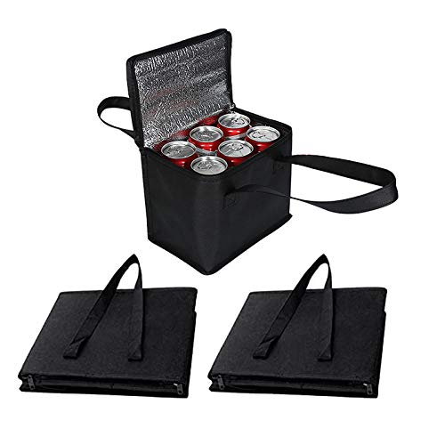 Fransande – Paquete de 3 bolsas de picería reutilizables para nevera térmica hermética con cierre de deslizamiento para mantener los alimentos calientes en frío, ideal para entregar alimentos