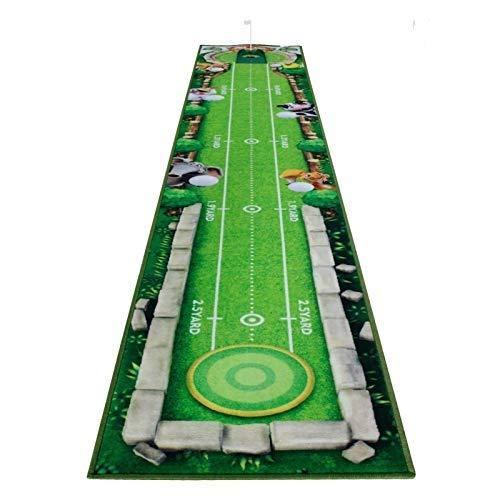 Golf-Puttingmatte, professionelle Dual-Körnung, Putting-Matte mit Distanzmarkierungen und Steigung, tragbarer Mini-Golf-Trainer, Putting-grüne Matte mit 1 Mini-Putterbecher mit Flagge und 3 Bällen