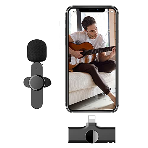 Wireless Lavalier Microphone Compatible for Phone Video Recording Speaker Wireless Microphone Vlogging