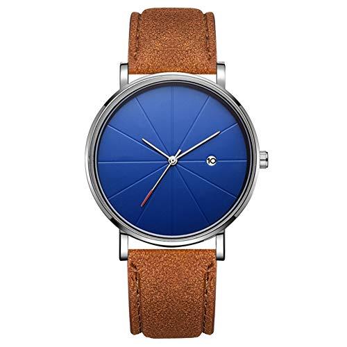 Reloj de moda simple Dial redondo Pantalla analógica Reloj de pulsera de cuarzo Accesorio de joyería Reloj de pulsera para hombres (# 22)