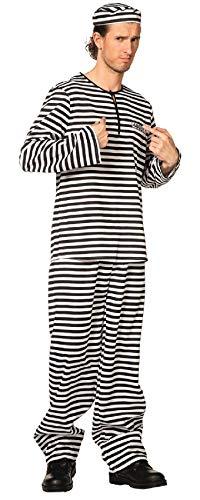 narrenkiste L3300160-60 - Traje para hombre, talla 60, color blanco y negro