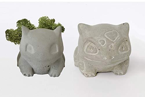 Concrete Bulbasaur Planter Sculpture Candle Holder Toys