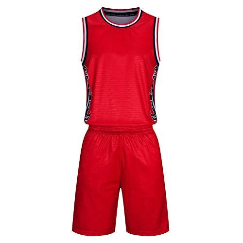 Not apply Herren Basketball Bekleidung Anzug Sport Shorts Schnelltrocknend Weste Training Trikot -  Rot -  XX-Large