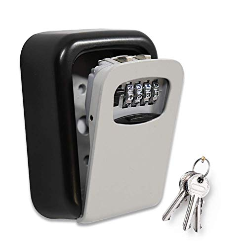 ValueHall Schlüsseltresor Schlüsselsafe mit 4-stelligem Zahlencode Schlüsselbox mit Zahlenkombination Kombinationsschlüssel Safe für Zuhause, Büros und Garagen (mit Anbausatz) V8168