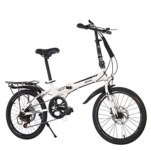 JUUY Deportes al Aire Libre Ciudad Bike Unisex Adultos Doblado Mini Bicicletas Ligero para Hombres Adolescentes Carrera clásico con Asiento de Manillar Ajustable.