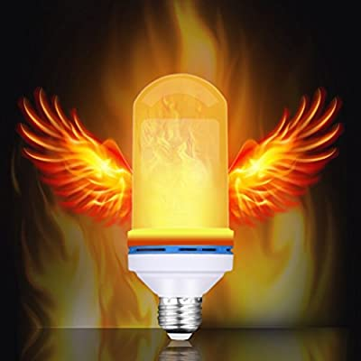 LED Flame Effect Light Bulb MASCOTKING E26 Base 105pcs 2835 LED Beads Vintage Festival Atmosphere Decorative LampNature Fire effect