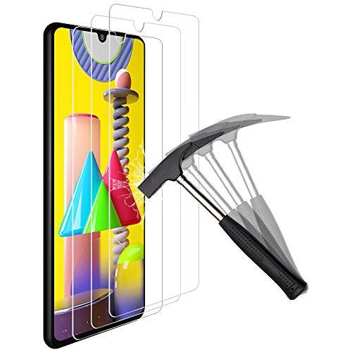 ANEWSIR per la (3X Protezione dello Schermo Samsung Galaxy M21 / M31,Facile da Applicare,Nessuna Bolla,Resistenza ai Graffi, Protezione dello Schermo in Vetro Temperato per Samsung Galaxy M21 / M31