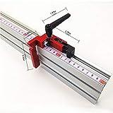 Calibrador de ingletes Altura de 75 mm Perfil de aluminio Altura de 75 mm T-tracks Tope Madera Herramienta de trabajo Calibrador de ingletes Mesa Sierra-Rojo y negro