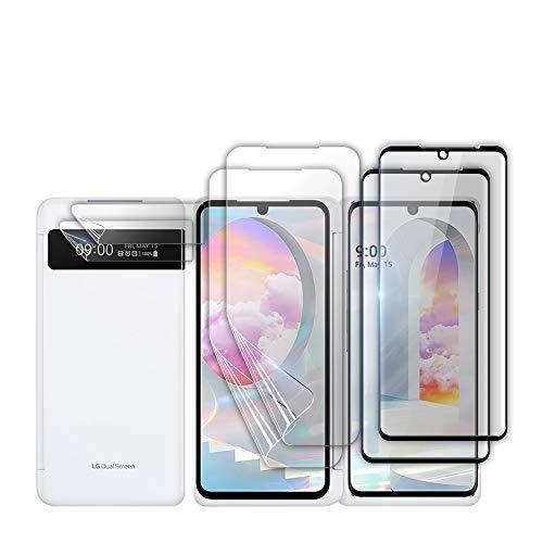 GOBUKEE LG Velvet [2+4] Bildschirmschutzfolie Panzerglas [9H Festigkeit] + Schutzfolie [für Dual Bildschirm]