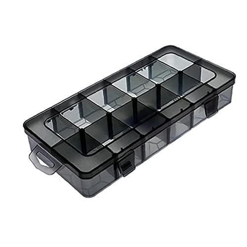 finebrand Plástico Joyas Caja De Almacenamiento Organizador del Envase De Plástico Apilable 18 Cuadrículas Compartimiento Contenedor con Divisores L