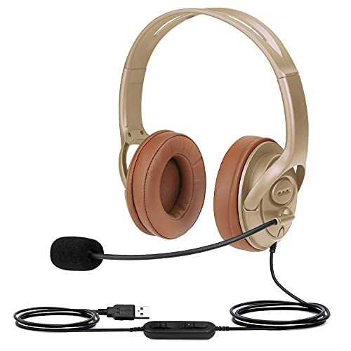 USB Headset for Microsoft Teams, Zoom Meeting Headset with Noise...