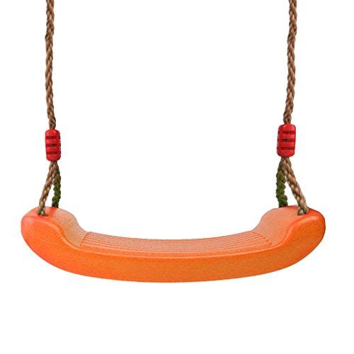 Hochwertige Schaukel Indoor Outdoor Spielplatz Zubehör für Kinder oder Erwachsene, Belastbar bis 150kg - Orange