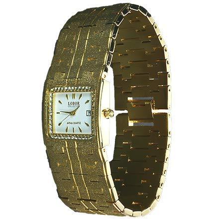 LOBOR Collection Armbanduhr 23 Karat vergoldet mit Datum