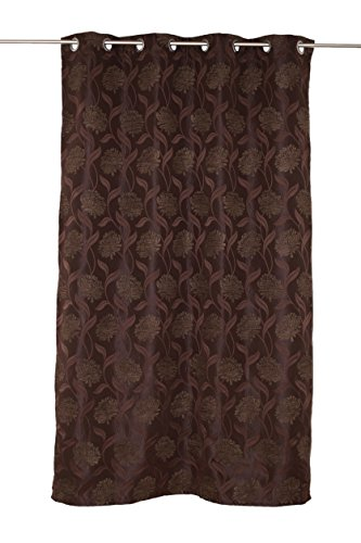 Mendola Home Textiles Tenda a Occhielli, Marrone, 140 x 245 cm