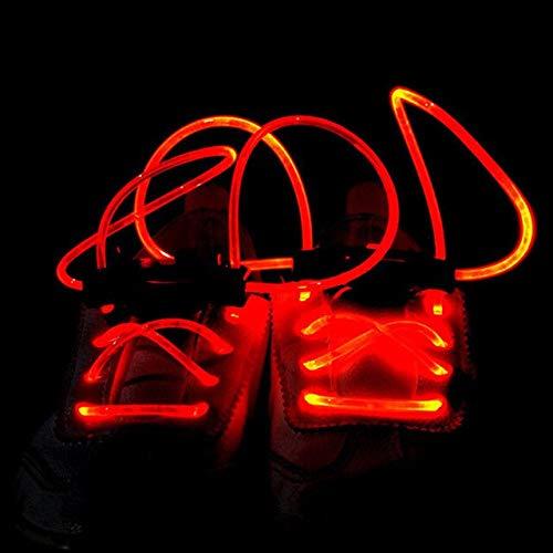 5 Paar Led Schnürsenkel Leuchtende Blinkende Schnürsenkel Disco Party Light Up Glow Nylon Strap Orange